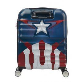 American Tourister Kabinový cestovní kufr Wavebreaker Marvel Spinner 31C 36 l - Captain America Close-Up